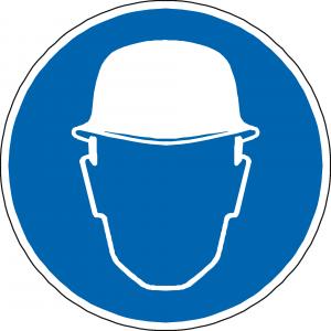 Sicherheitsschild Helmpflicht