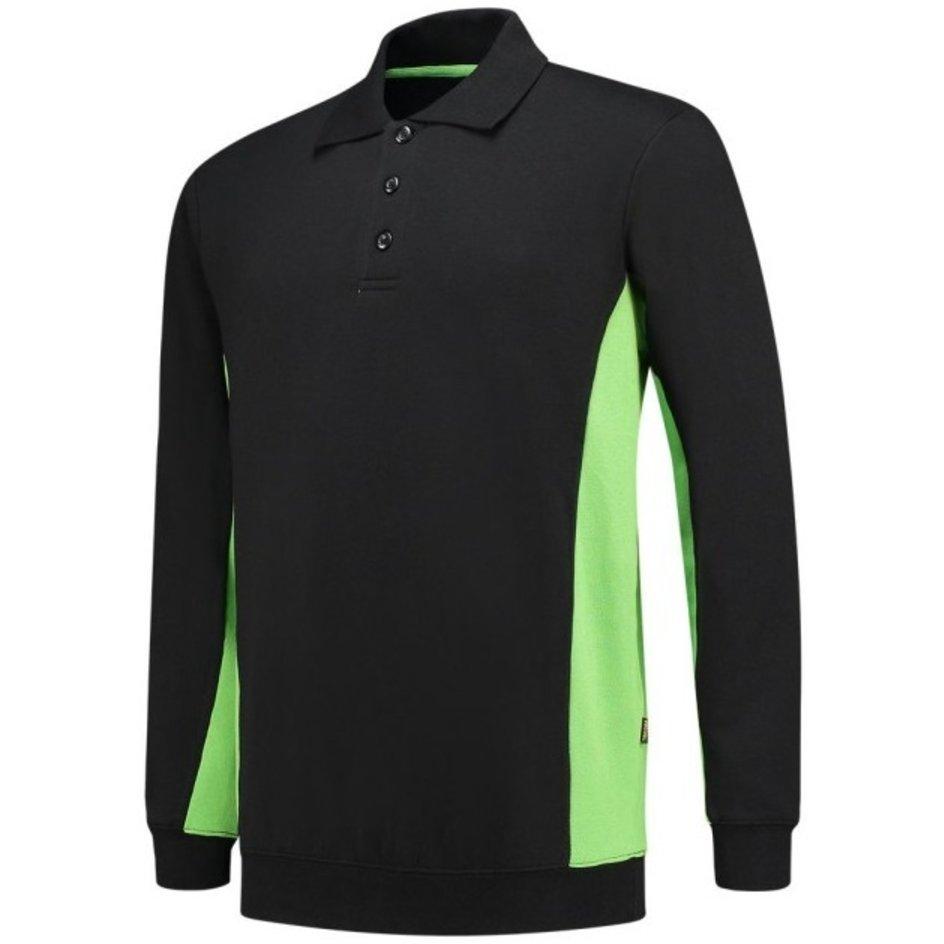 Tricorp – Sweatshirt mit Polokragen Bicolor 302003 Black-Lime Gr. XS