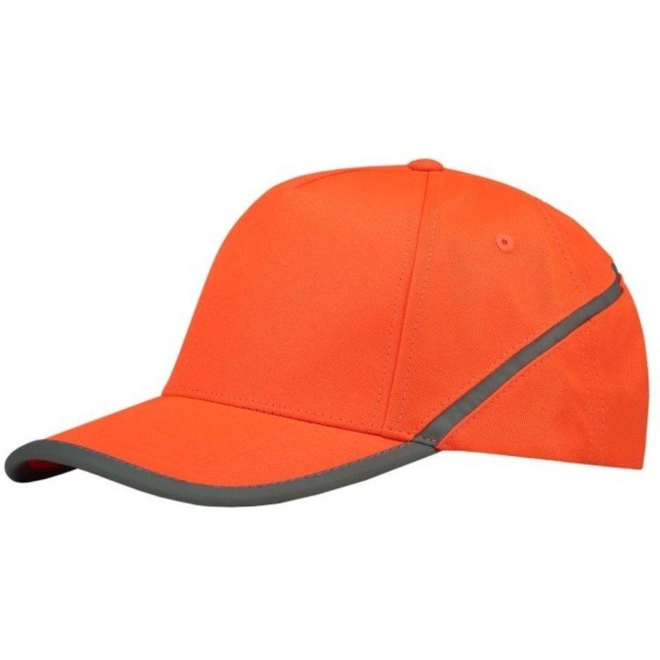 Tricorp – Cap mit Reflexstreifen 653002 Fluor Orange