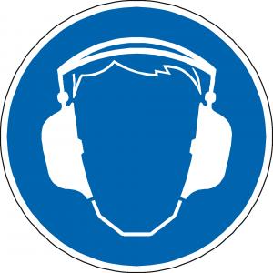 Gehörschutz Schild