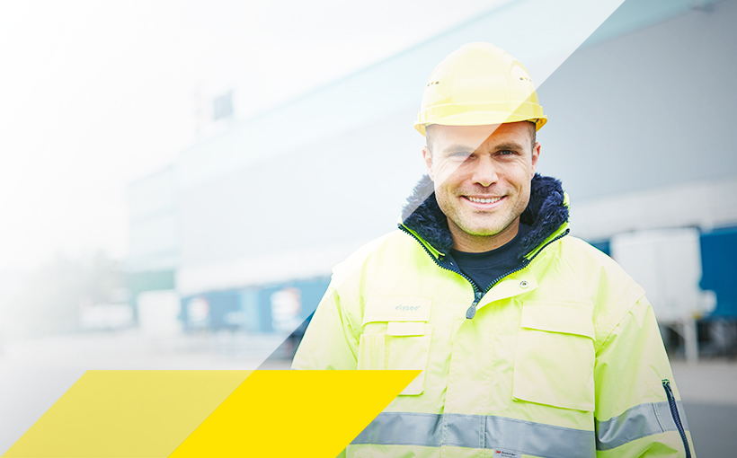 Bauarbeiter in Warnkleidung