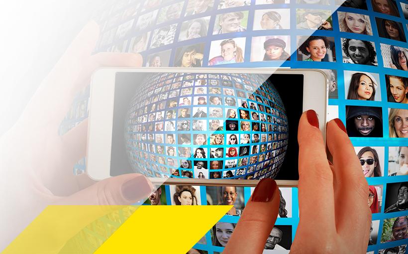 Digitale Welt Smartphone im Einsatz