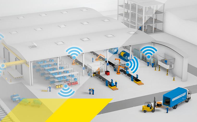 Wifi-Spots in einem Logostikzentrum