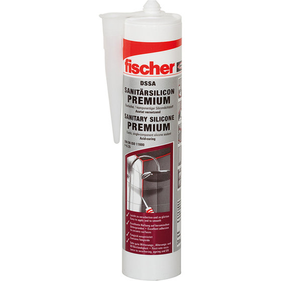 fischer® Sanitärsilikon, 310ml, transparent