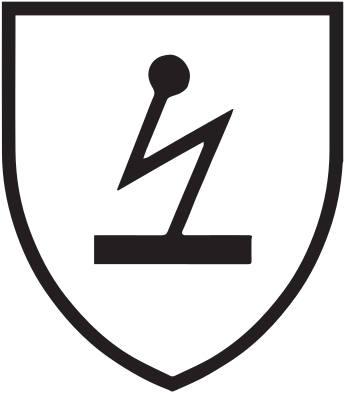 Piktogramm elektrische Gefahr schwarzes Spannungssymbol