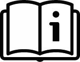 Piktogramm Bedienungsanleitung - Schwarzes Buch mit i