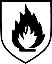 Piktogramm Gefahr durch Hitze - Schwarze Flamme
