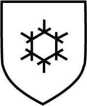 Piktogramm Gefahr durch Kälte - Schwarzes Eiskristall