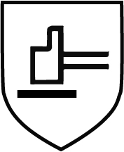 Piktogramm mechanische Gefahr- Hammer schwarz