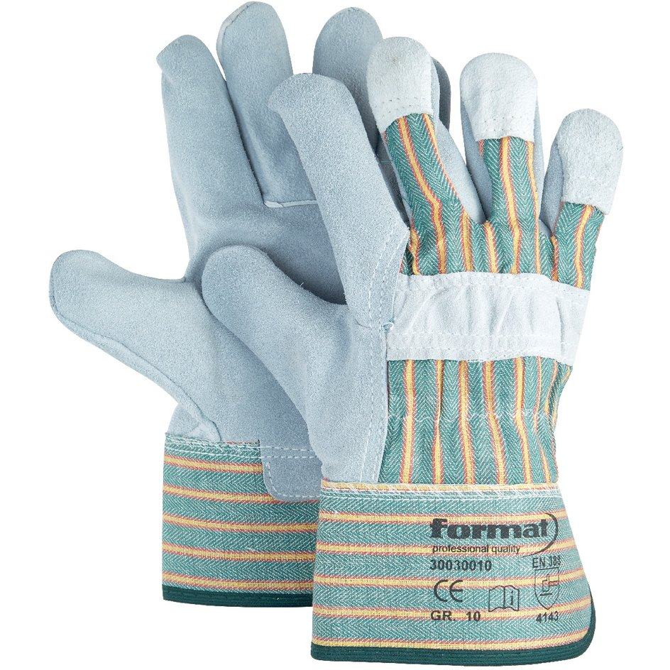 FORMAT – Lederhandschuh Kat. II, grün