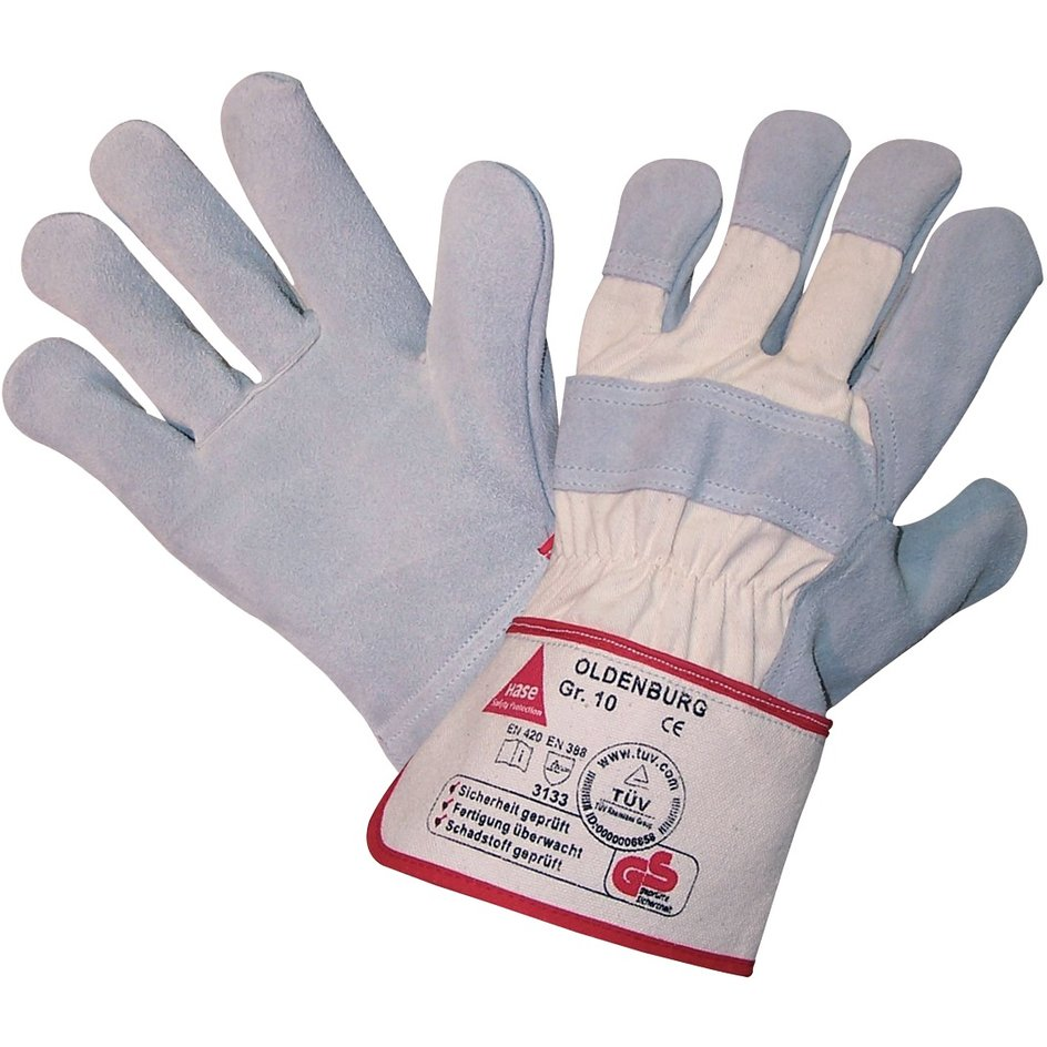 Hase Safety Gloves – Universalhandschuh Oldenburg, Kat. II, weiß, 10