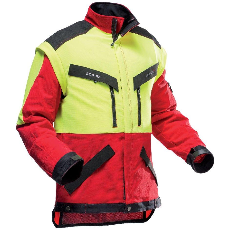 Forstjacke KlimaAIR rot/gelb von PFANNER®