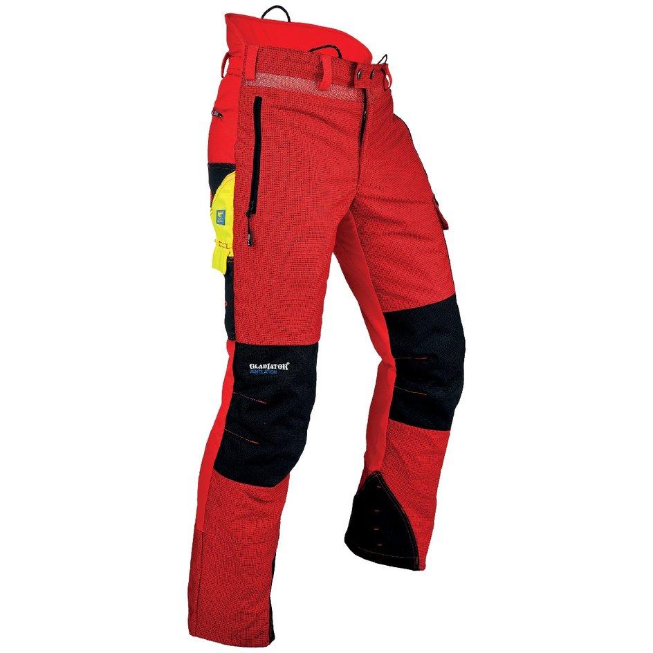 Schnittschutzhose von PFANNER® rot/schwarz