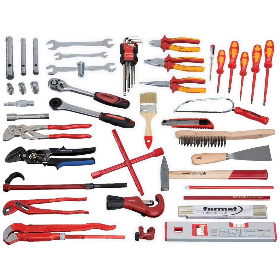 FORMAT Werkzeugsortiment Sanitär 50-teilig
